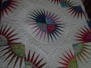 Raffle quilt center